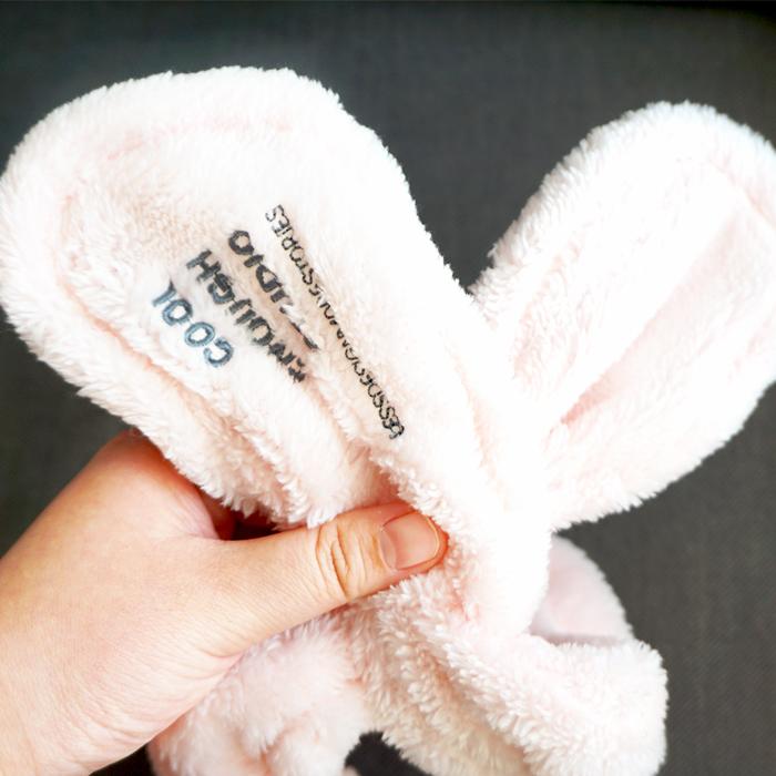 почта пакет с милый кролик уши мыть волосы макияж бант Баотоу полотенце обруч широкий волосы рукав