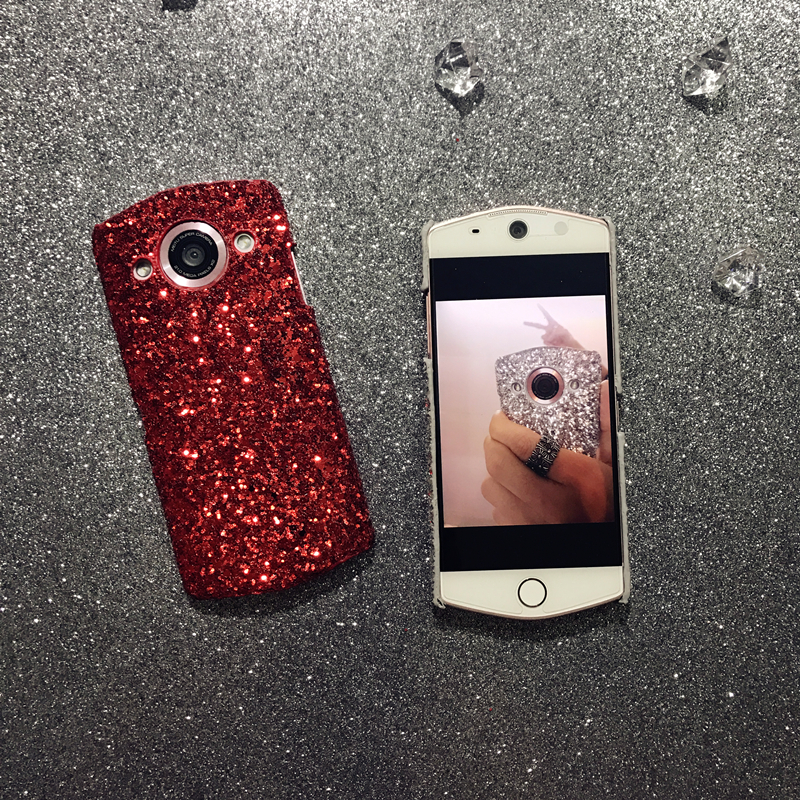 Mito M8 mobile phone shell T8 luxury flashing powder M6/S simple shell anti fall M4 protective sleeve, Japan and Korea sequins tide brand women