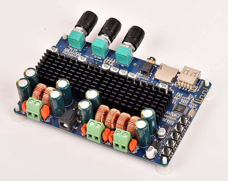 Bluetooth power amplifier board high power module 2.1 channel firing level bass gun refitted PCB kit digital TF decoding