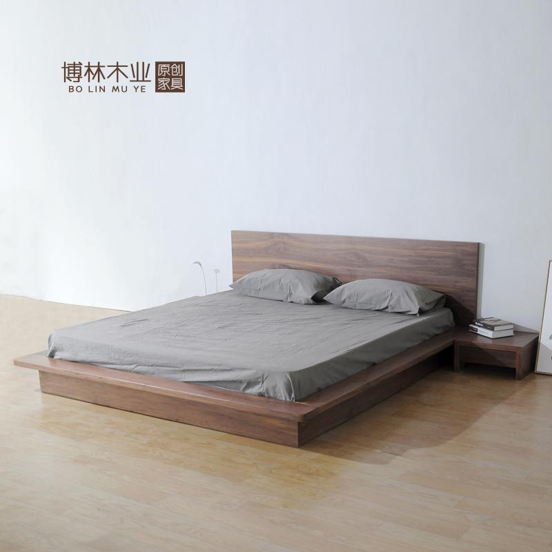 скандинавски дървени трупи 1,8 метра дъб татами леглото е двойно легло в спалнята на облегалката на леглото меко легло