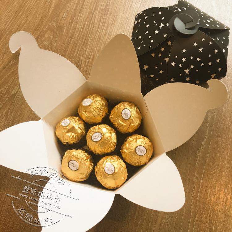 Weihnachten VERPACKUNG Schwarz - geschenk - box süßigkeiten, kekse, schokolade MIT Hand - dessert - West Point