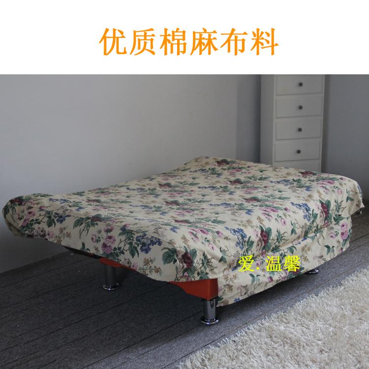 上質なコットン麻布多機能折りたたみソファセット1.21.81.5メートルの布で簡易防塵ソファベッドカバー