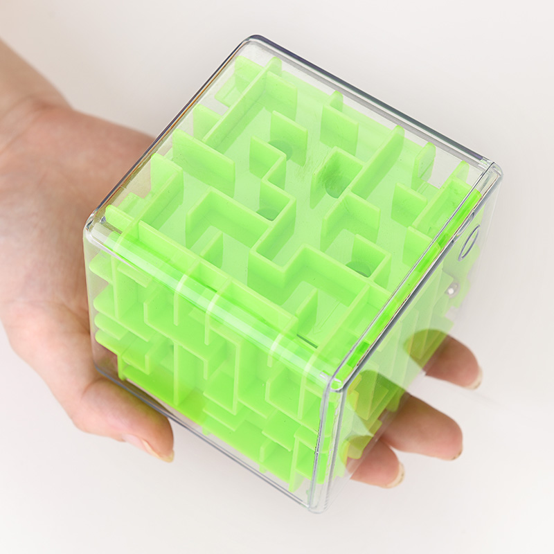 From early adult children's toy intellectual ball large transparent maze cube 3D stereo magic ball