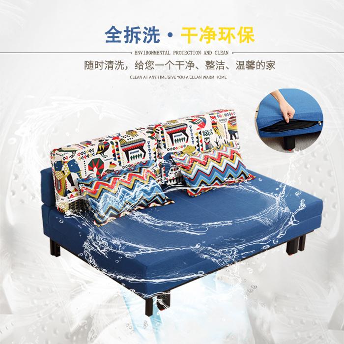 布製ソファベッドのシンプルな現代的には、単一の機能の小さいタイプの2人の部屋として、1メートルの.