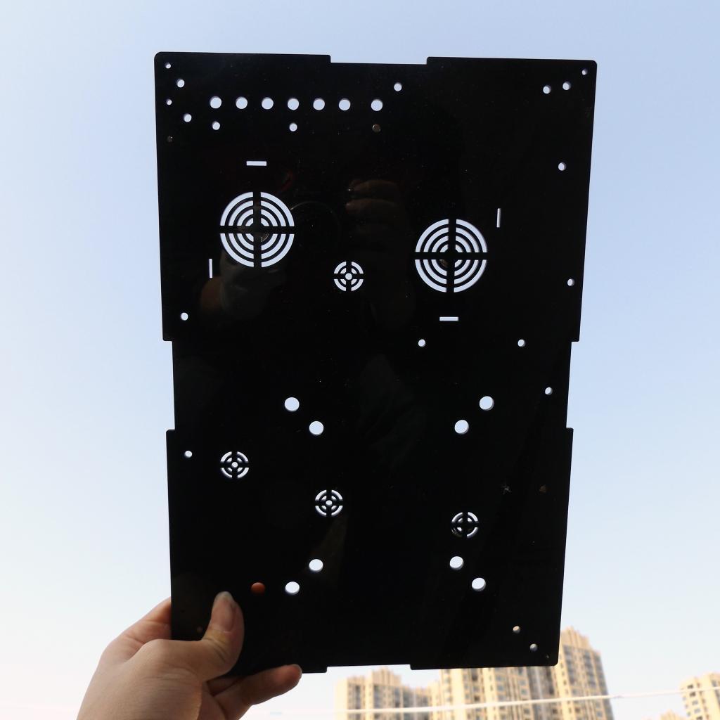 La Lastra di Vetro acrilico trasparente su misura Organica di un piatto di Lavorazione di taglio Laser acquario il coperchio della Mostra.