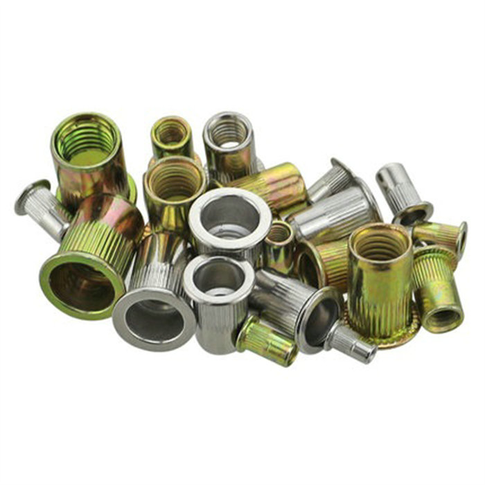 304 stainless steel pulling riveting nut pull cap flat head riveted nut pulling cap nut color zinc various specifications