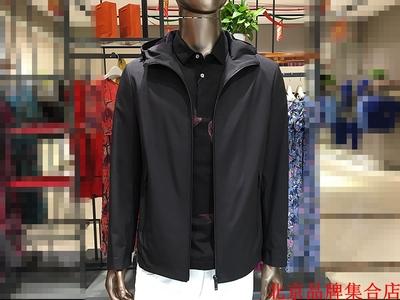 好货18新品 男士春秋款 黑色连帽 户外休闲系列 夹克 外