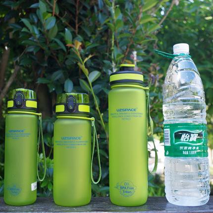 优之Tritan塑料便携密封防漏学生水壶户外运动大容量水杯1000ml