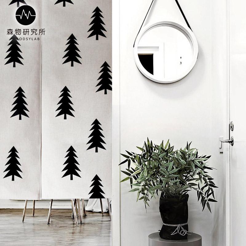 гора скандинавски стил дневната завеса плат спалнята завесата на банята на полу - домакински кухнята.