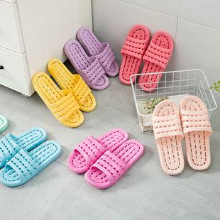 日式室内家用软底拖鞋浴室洗澡防滑情侣外穿凉拖鞋女夏季男家居鞋
