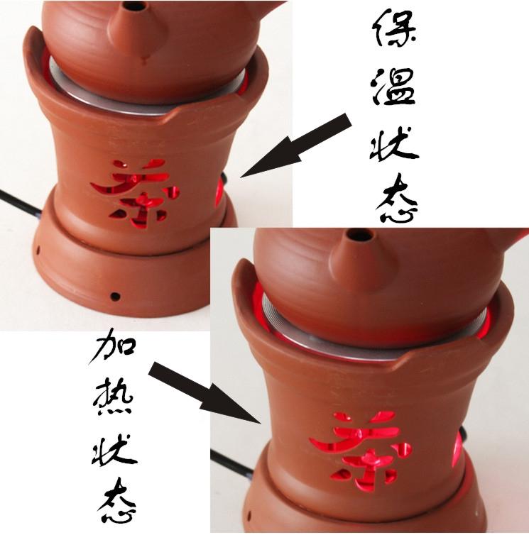 La estufa horno de kung fu de té de púrpura de Retro - horno de estufa de cerámica de la tetera de té té de