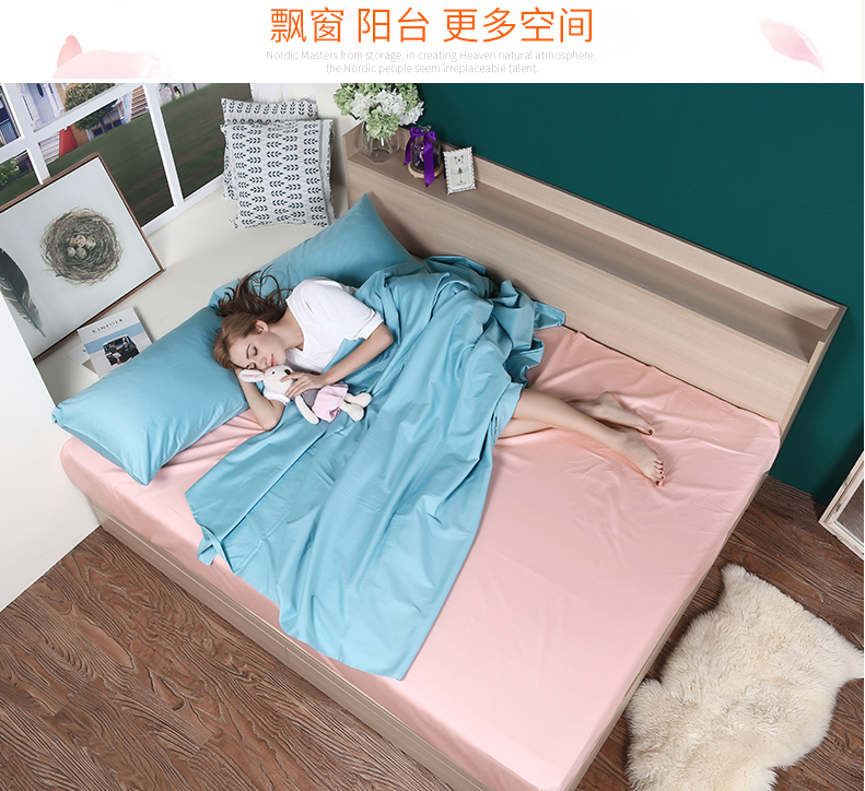 Drawer included high box storage bed tatami bed double bed 1.8 meters 1.5 simple modern type bed