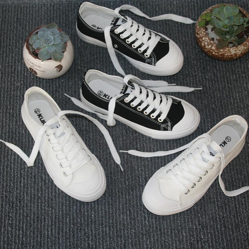 韓國ulzzang 原宿 百搭帆布鞋女 平底 小白鞋女鞋布鞋