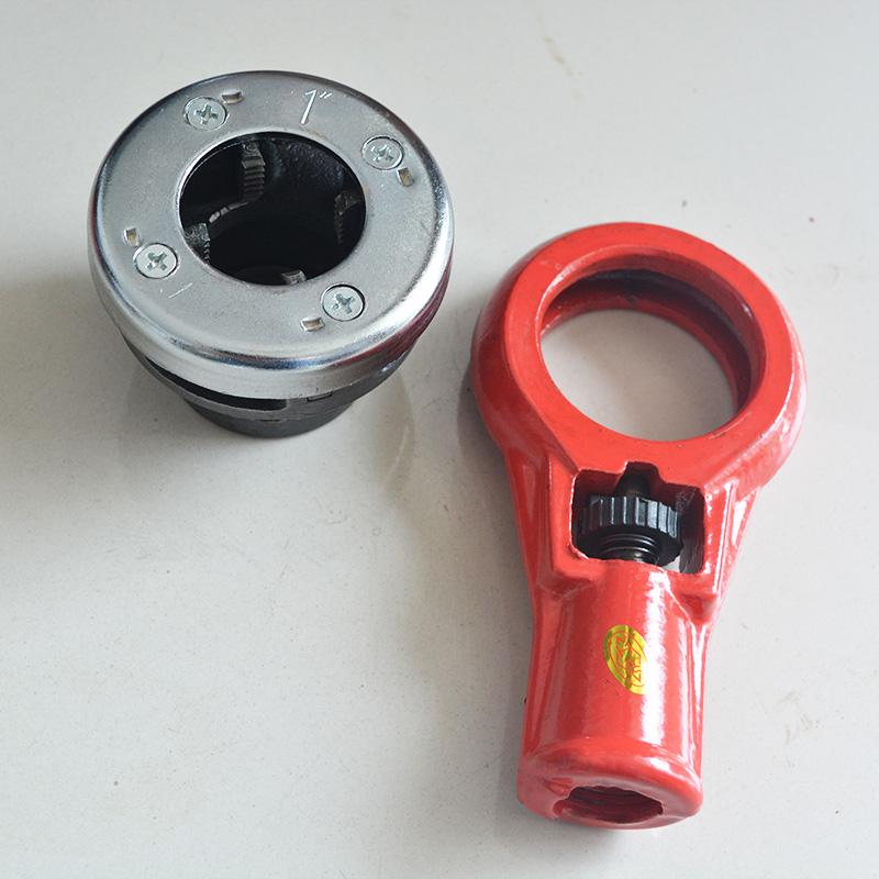 Type 74 machine manual pipe cutter plate die threading tool manual pipe threading machine