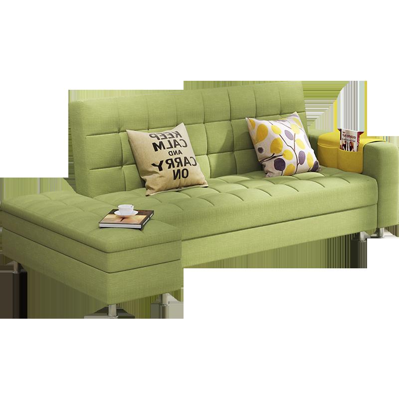瑞信家具の小型ソファベッド折りたたみリビングペアの布で多機能ソファベッド収納両用