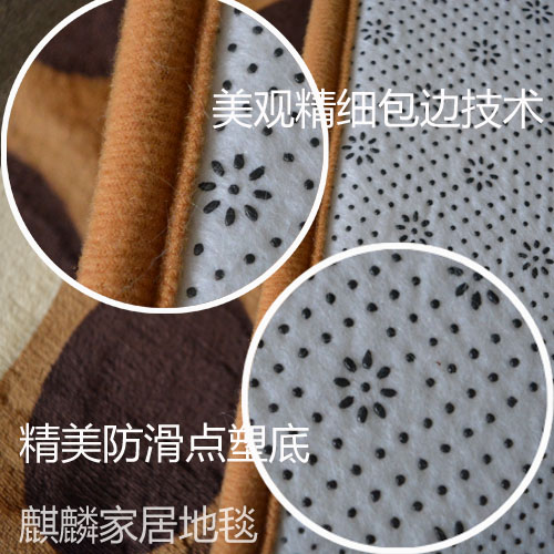 The tatami mat room hall carpet covered with custom bedroom bedside rectangular rug hand washable Plush guest