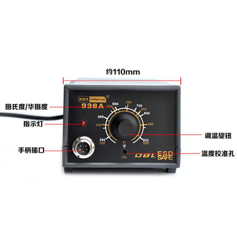 3. A temperatura de solda de solda com estação de 60 W 6 936 constante de importação de ferro ferro elétrico ajustável.