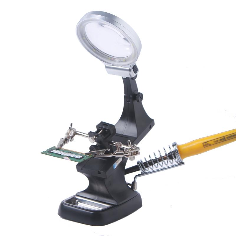 Hochleistungs - HD - multifunktions - schreibtisch stehen faltbare WARTUNG Lupe MIT clip der USB - netzteil MIT IDA - Lampe