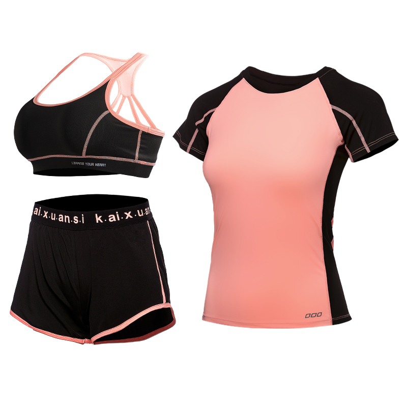 Yoga suits, fitness suits, women, winter, speed, dry, tight, thin, short sleeved, morning running, sports bra, professional dance pants