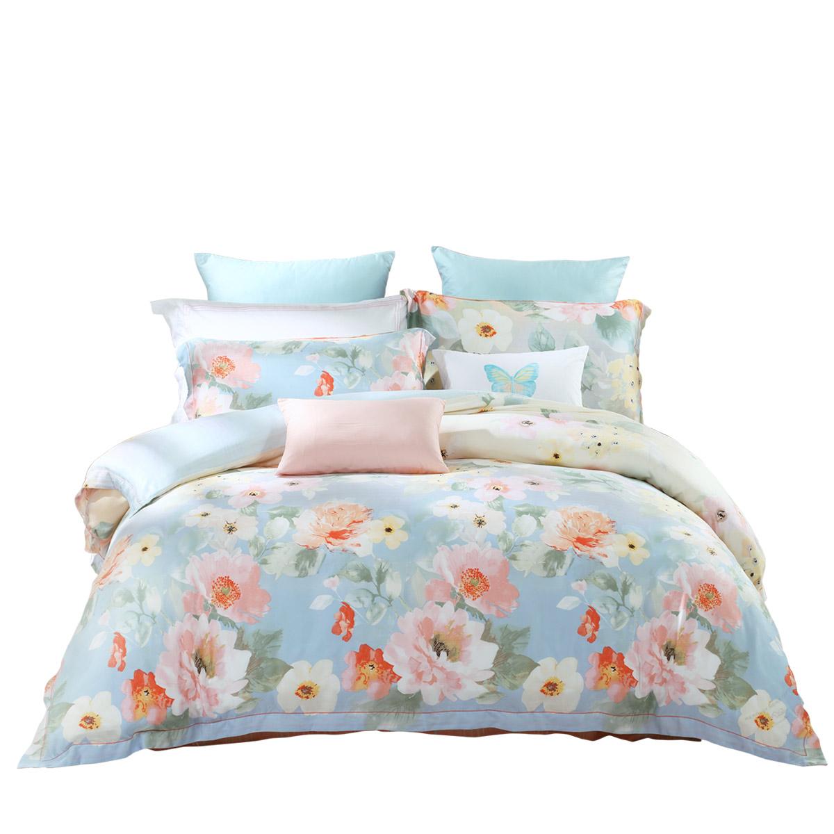 Mercury textile Tencel bedclothes four piece Casey summer garden 1.5m 4 sets of double bed quilt