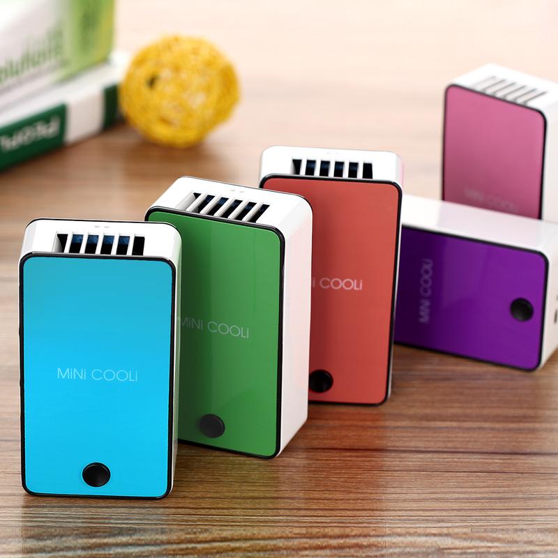 En la palma de la mano de refrigeración aire acondicionado portátil USB portátil recargable sin ventilador dormitorios mini ventilador