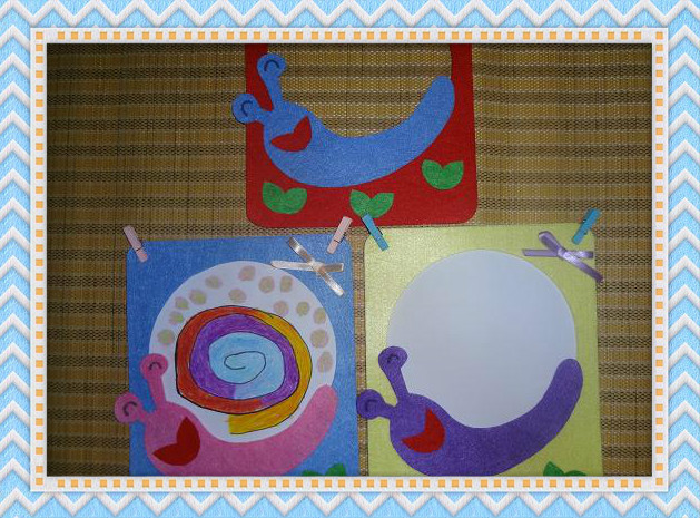 幼儿园美工区角不织布纯手工diy教玩具蜗牛想象画涂鸦