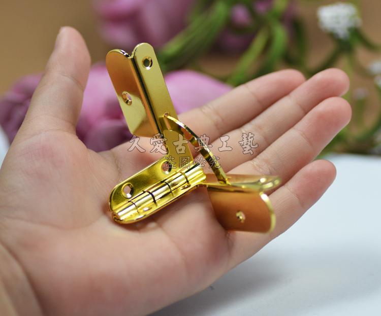 43 * 32mm機ヒンジ千斤ヒンジスプリングヒンジ七字が小さくて蝶番金属パーツ防犯ボタン
