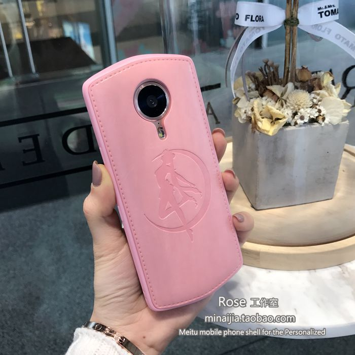 A beautiful girl and soft shell T8 M6/M6s M4s/M4/V4/M8 Mito mobile phone shell pink female creative personality