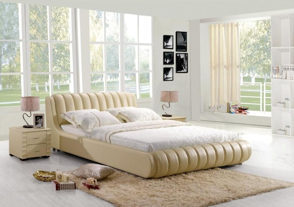 Good night suite furniture master bedroom tatami imported leather leather bedstead Prince Simmons bed QN12