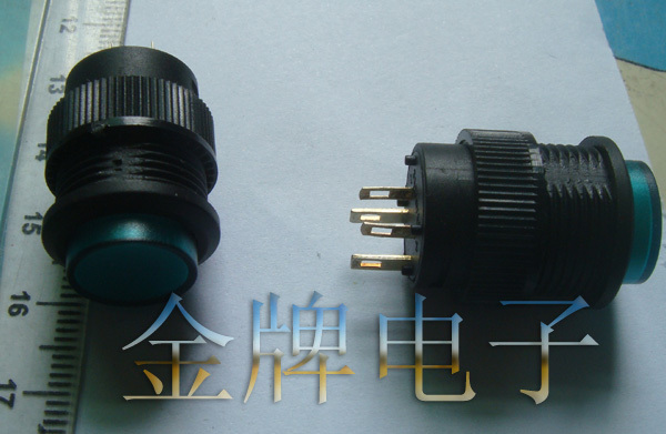 Round switch 503 switch diameter 16MM green button with lock lamp 4 feet 3A250V each