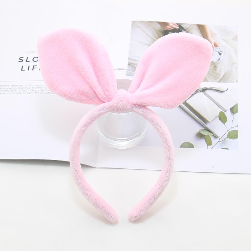 Милый кролик уши обруч плюшевые умыться шпилька корейский новый день супер вулкана косметические маски голову обруч голову украшения