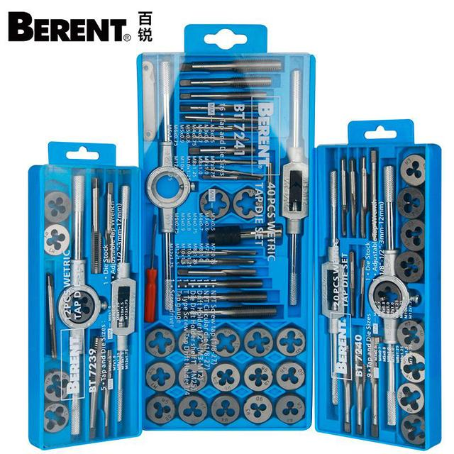In a suit of tapping teeth board combination spanner set out 40 screw taps and braces