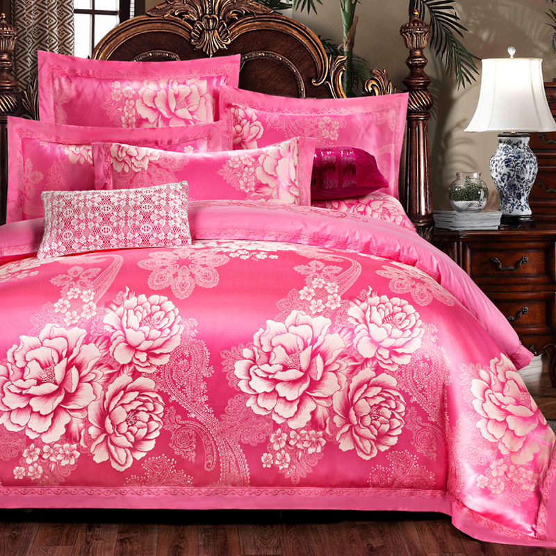 New cotton and Cotton Jacquard Satin Embroidered quilt Cathy European four piece