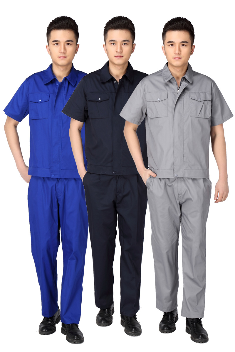 Electrical engineer welder maintenance work short sleeved summer hotel engineering service automotive beauty uniforms