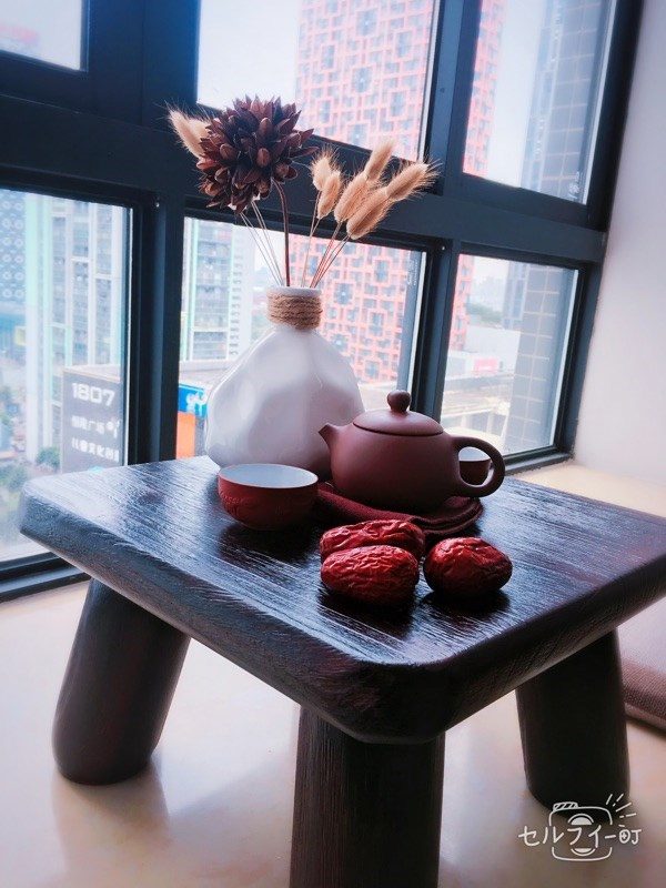 Japanese barbecue table table table tatami wood windows window on the bed a few Kang Table small tea table Paulownia tea table