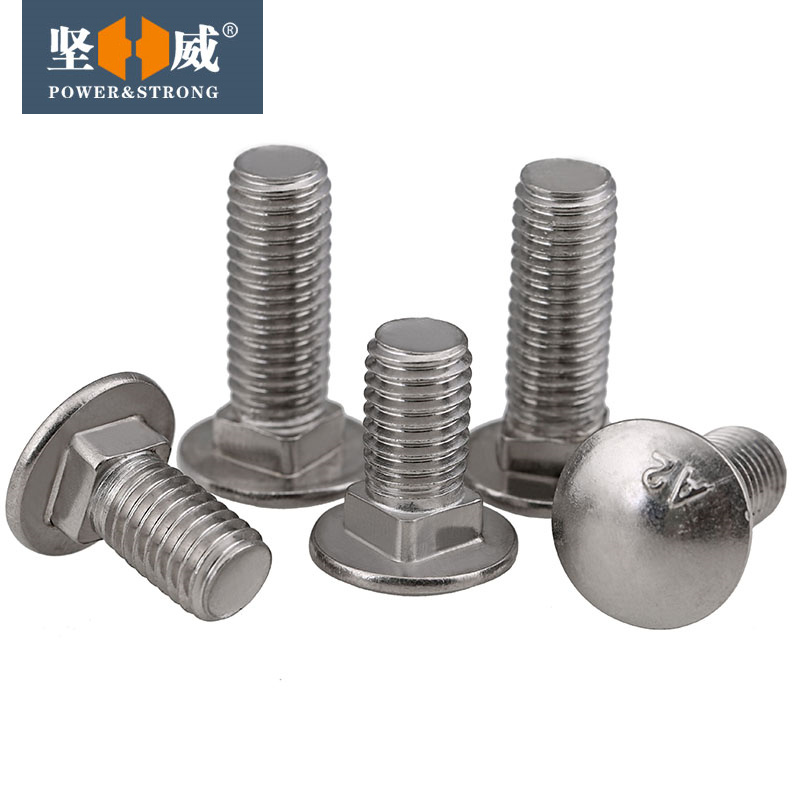 Sales M10M12 304 stainless steel screws carriage GB12 cup head square neck bolts screws shelf