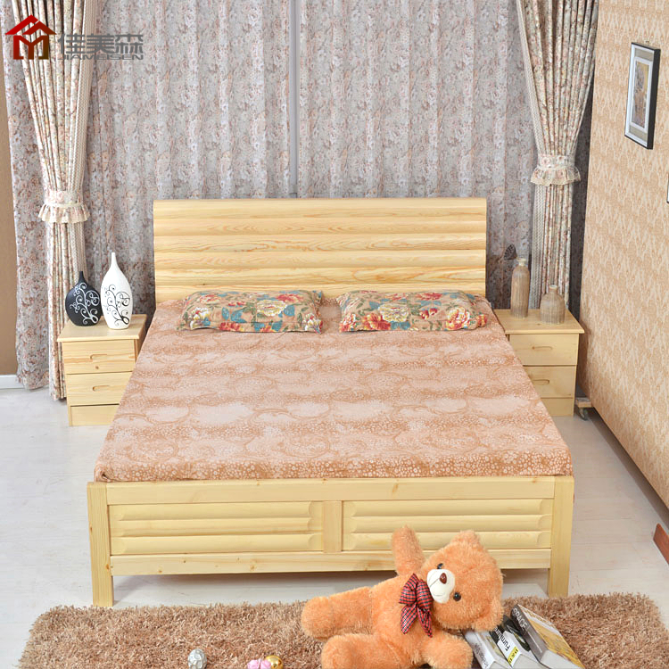 Pine bed, solid wood bed, 1.8/1.5/1.2 bed, single bed, double bed box, storage bed, children's bed