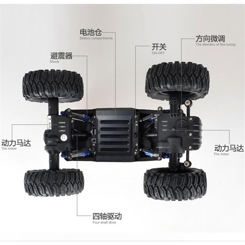 Die ROLLEN von 2836 klettern fernbedienung geländewagen für high - speed - Monster - Truck - Junge dynamische ferngesteuerten auto - spielzeug - auto