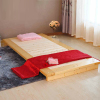 Hard wood bed tatami bed single bed widening loose baby bed folding ribs nap bed frame