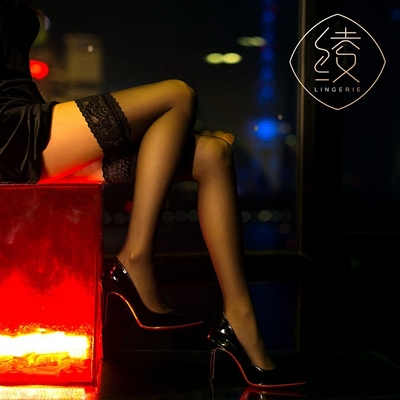 「绫 天生丝滑」【秘】娇艳之选 性感5D蕾丝防滑硅胶高筒长筒丝袜原单