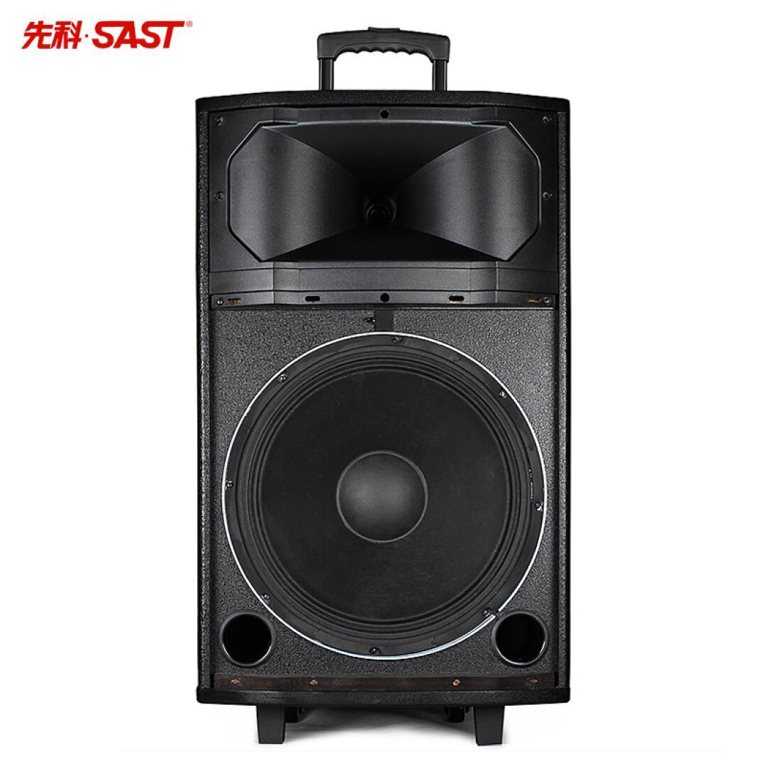 SAST square dance audio 15 inch outdoor pull rod high power Bluetooth battery stage mobile voice box containing remote control 10