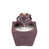 Back burner Yixing creative ornaments large smoke incense incense Tan Every dog has his day flow back tower furnace burner