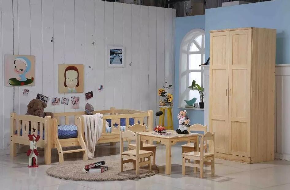 Ensemble armoire armoire deux enfants de TB de 0,8 m armoire pleine de bois massif de garde - Robe pin de la protection de l'environnement toute la suite des enfants