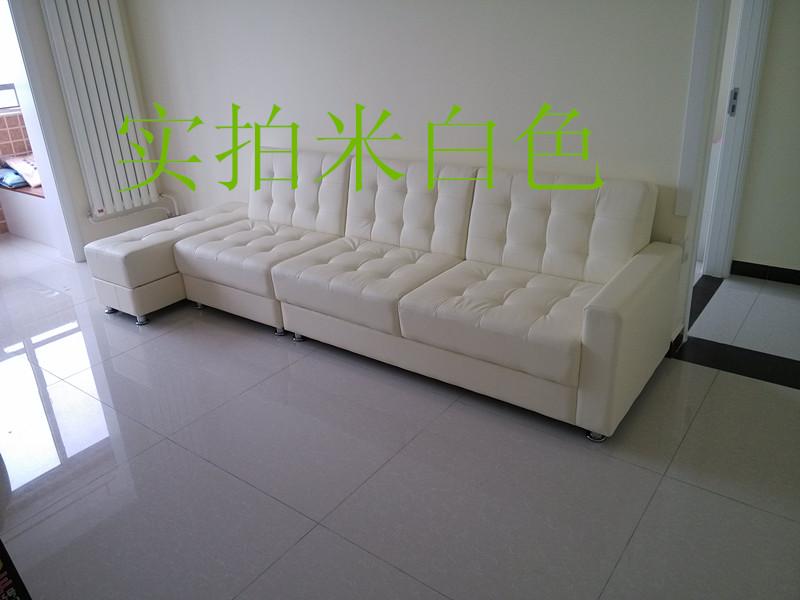 σπέσιαλ δέρμα μικρών μονάδων αποθήκευσης πολυλειτουργική καναπέ πτυσσόμενο καναπέ - κρεβάτι διπλά για τρεις (με την αποθήκευση