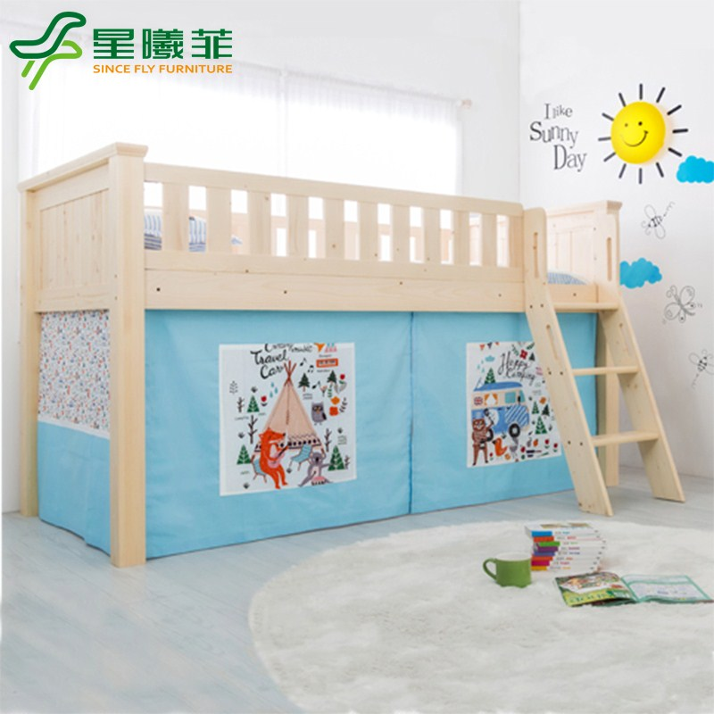 The level of children's bed half solid wood bed rail bed two bed bed height bed mother bed package mail order