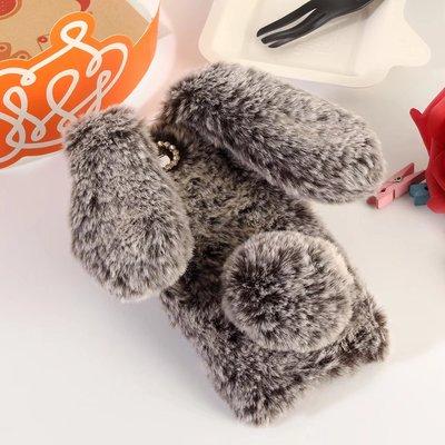 卡通玩偶华为荣耀9立体毛毛兔Y6pro手机壳软胶全包2017版Y5兔耳朵
