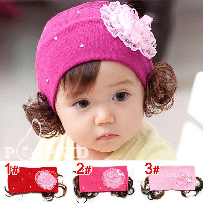 韩版儿童公主宝宝女童发带婴儿发带发网头饰发饰 大花蝴蝶结假发