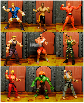 Jazwares capcom Street Fighter 3.75 inch movable doll Green Wolf Red Ken Shagate variety