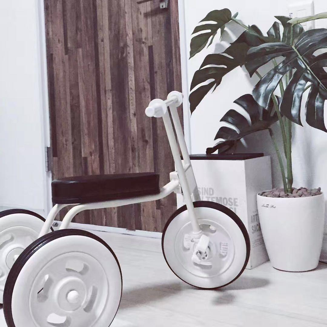 Simple bicicleta bebé niño triciclo scooter India Japón sin varilla cochecito de 1 a 3 años