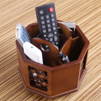 Mobile phone remote control storage box solid wood tea table creative home office living room coffee table remote control receiving box